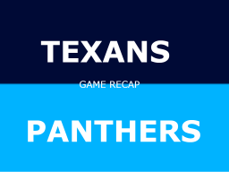 Panthers win preseason home opener over Texans